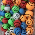 Bingo Ball- Multi Color 2 Side Print