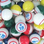 Bingo Balls – 3C Sammy – ½ white ½ colored